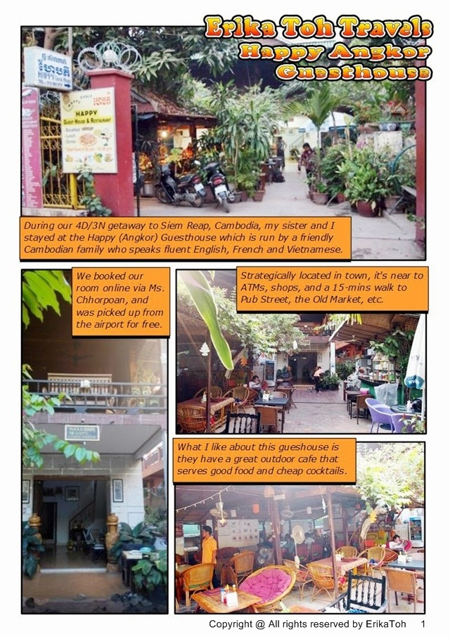 4D/3N Backpacking Siem Reap : Happy Angkor Guesthouse (Comic
