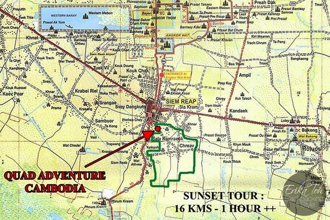 4D/3N Backpacking Siem Reap : Quad Bike Sunset Tour With