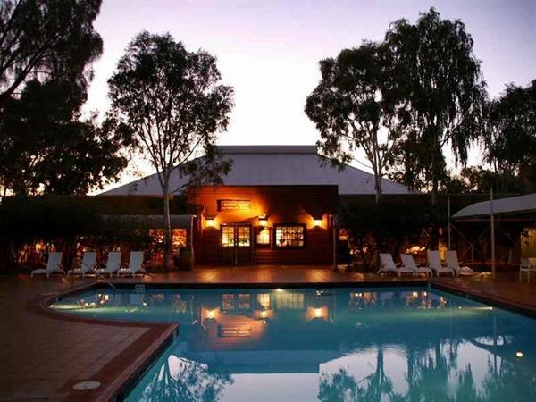 Swimming Pool At Outback Pioneer Hotel U0026 Lodge, Ayers Rock (Uluru)