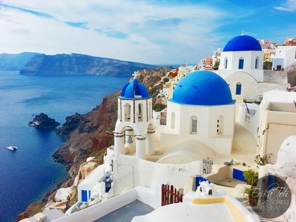 ErikaToh-Backpacking-In-Style-Iconic-Three-Blue-Domes-Oia-Santorini-6