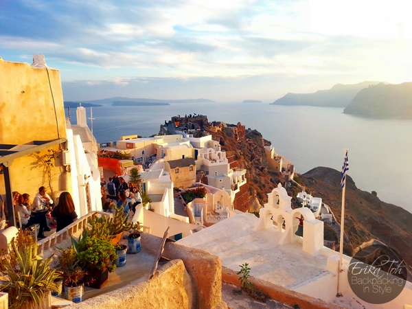 ErikaToh-Backpacking-In-Style-Old-Castle-Fort-Londsa-Sunset-Oia-Santorini-1