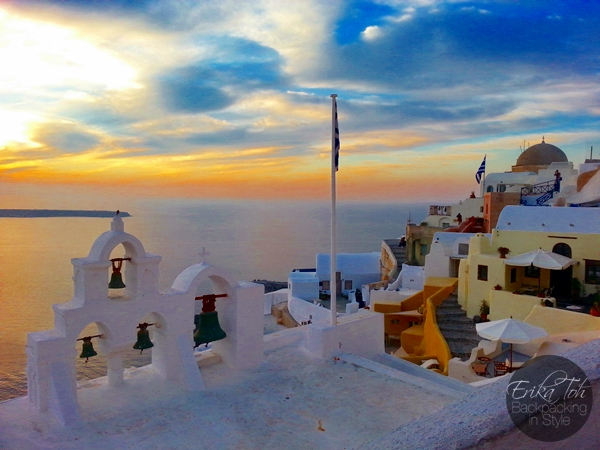 ErikaToh-Backpacking-In-Style-Old-Castle-Fort-Londsa-Sunset-Oia-Santorini-2