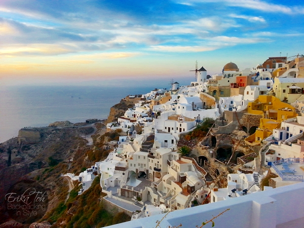 ErikaToh-Backpacking-In-Style-Old-Castle-Fort-Londsa-Sunset-Oia-Santorini-4