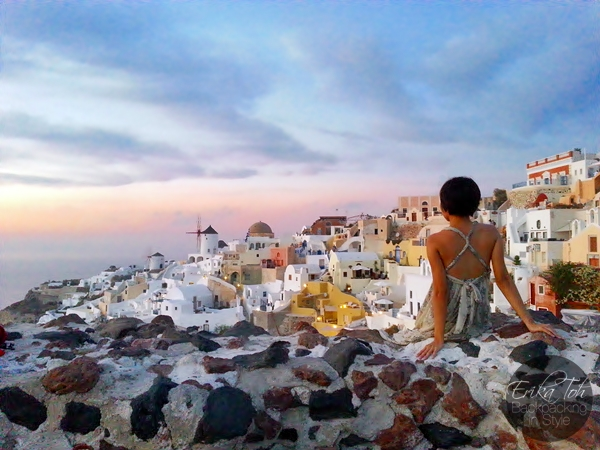 ErikaToh-Backpacking-In-Style-Old-Castle-Fort-Londsa-Sunset-Oia-Santorini-6